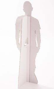 One person cutout back