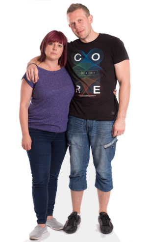 two people cutout